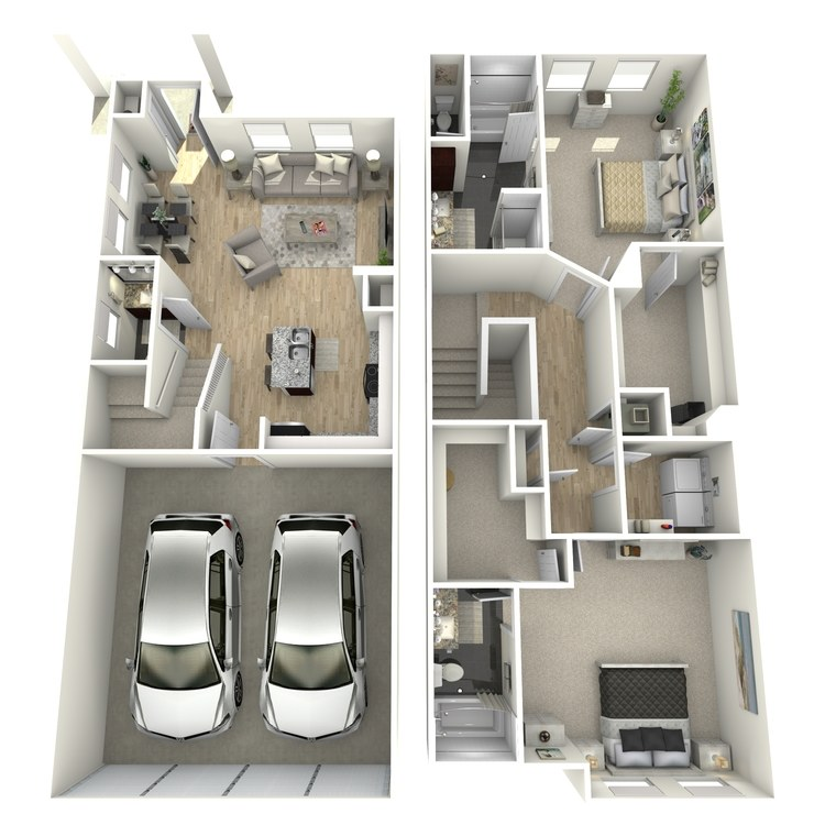 Floor plan image of The Addison Townhome
