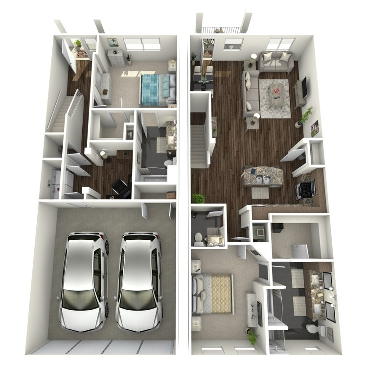 Floor plan image of The Mizner Townhome