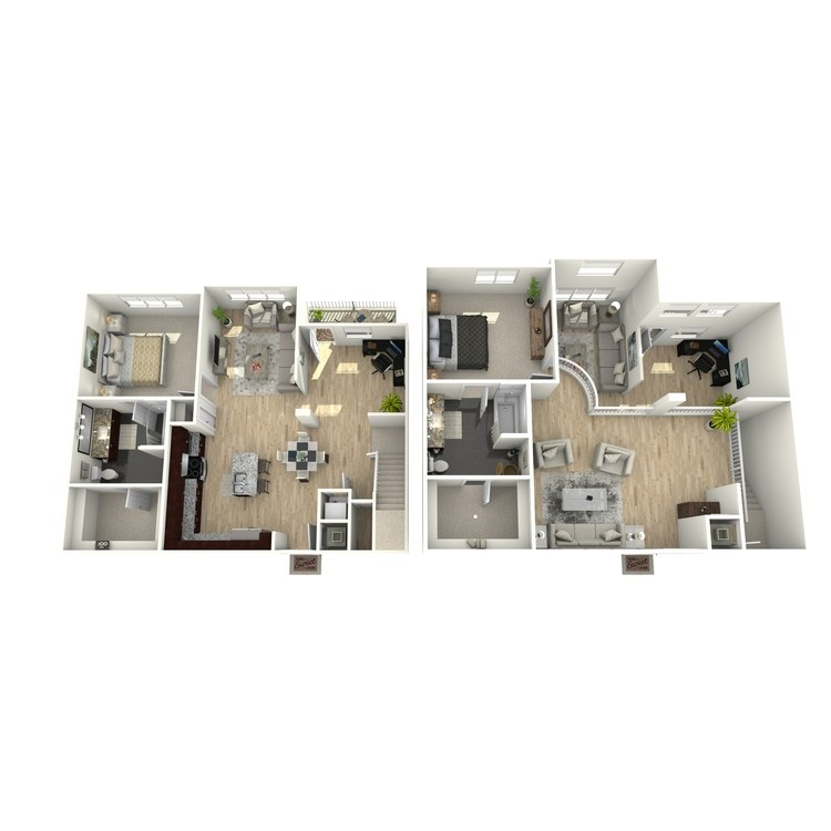 Floor plan image of The Marbella Loft