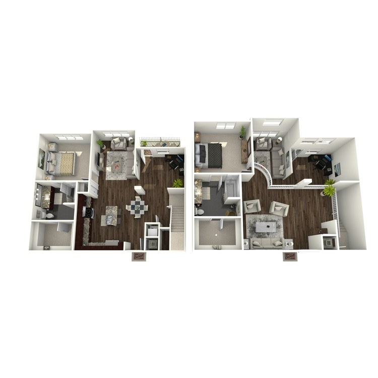Floor plan image of The Bimini Loft
