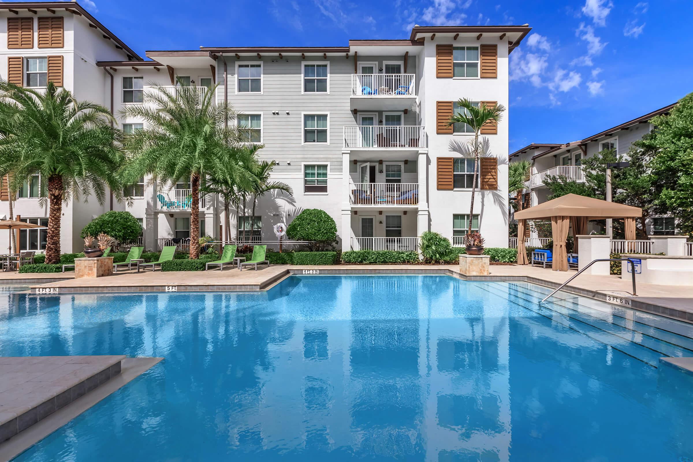 Pool at The Allure Apartments in Jupiter, FL