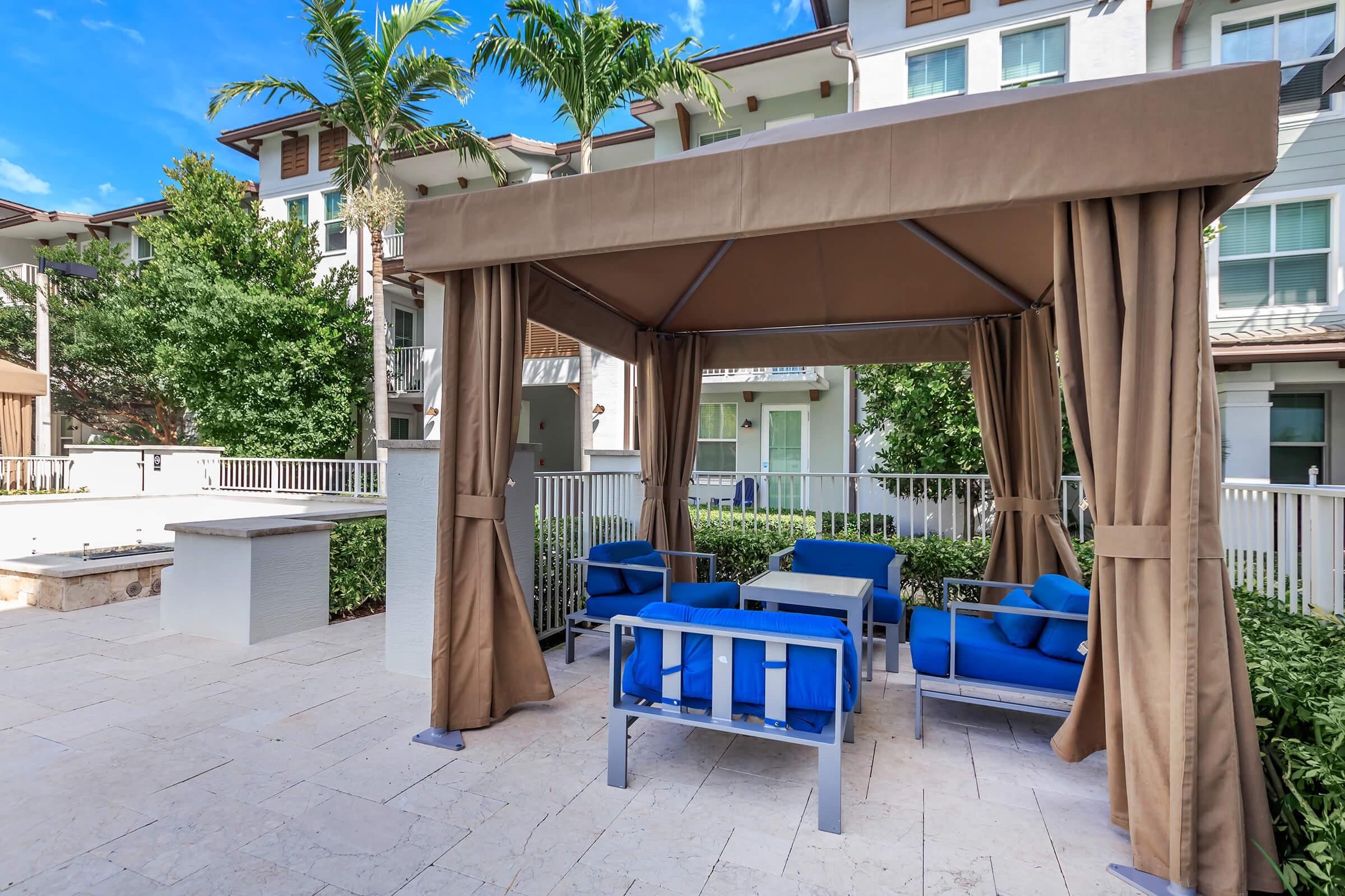 Patio at The Allure Apartments in Jupiter, FL