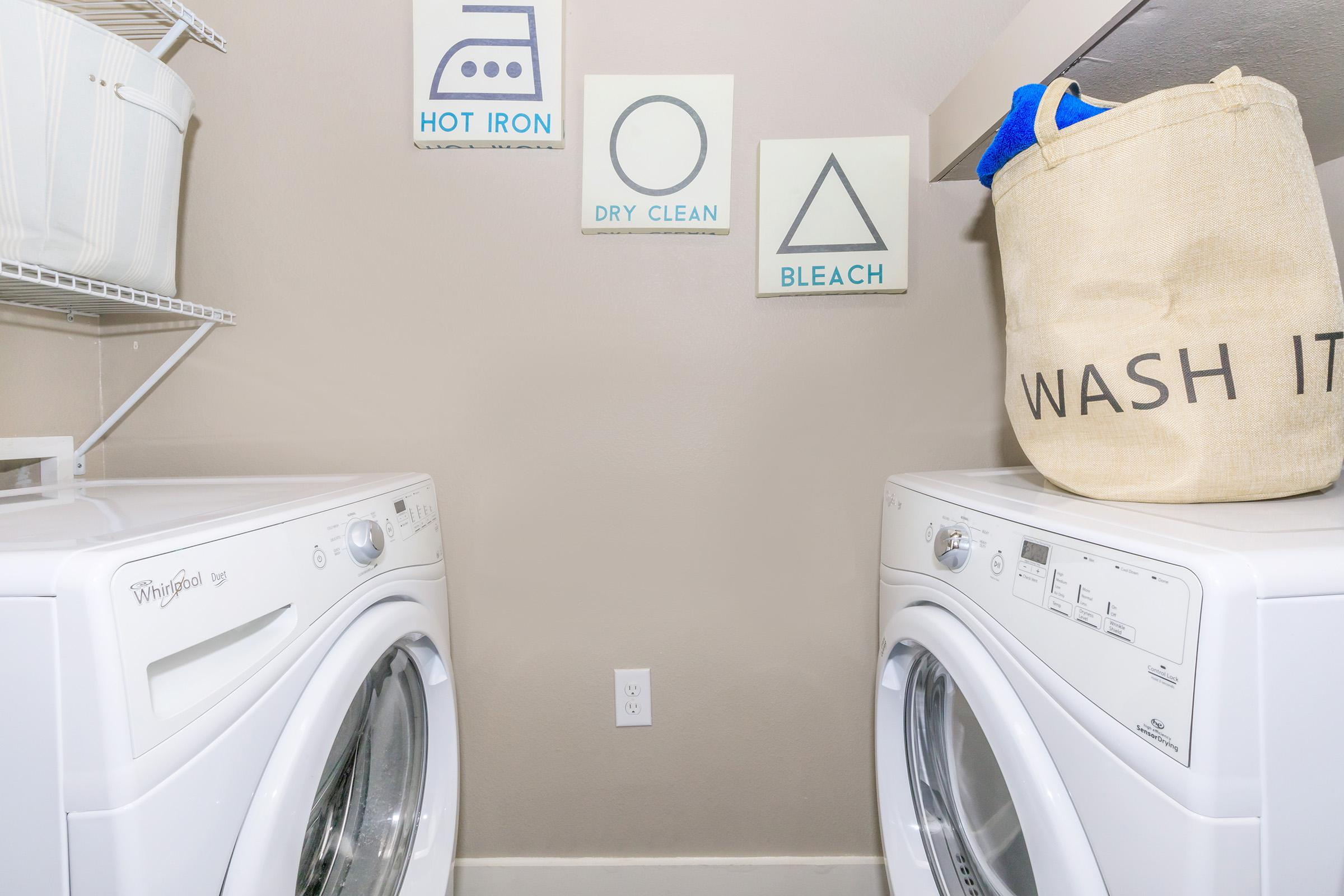 a washer and dryer