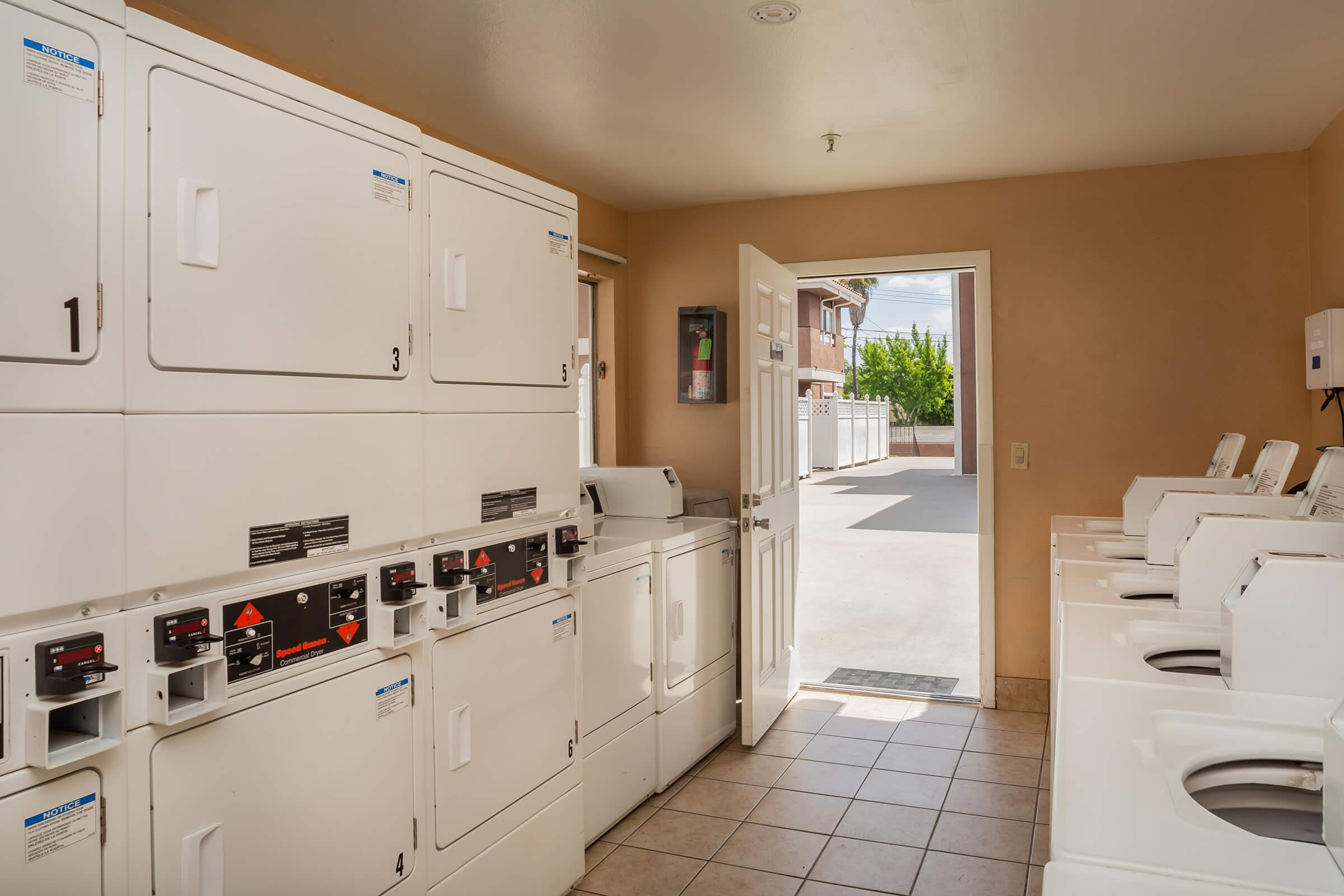 Washer and dryers in laundry room
