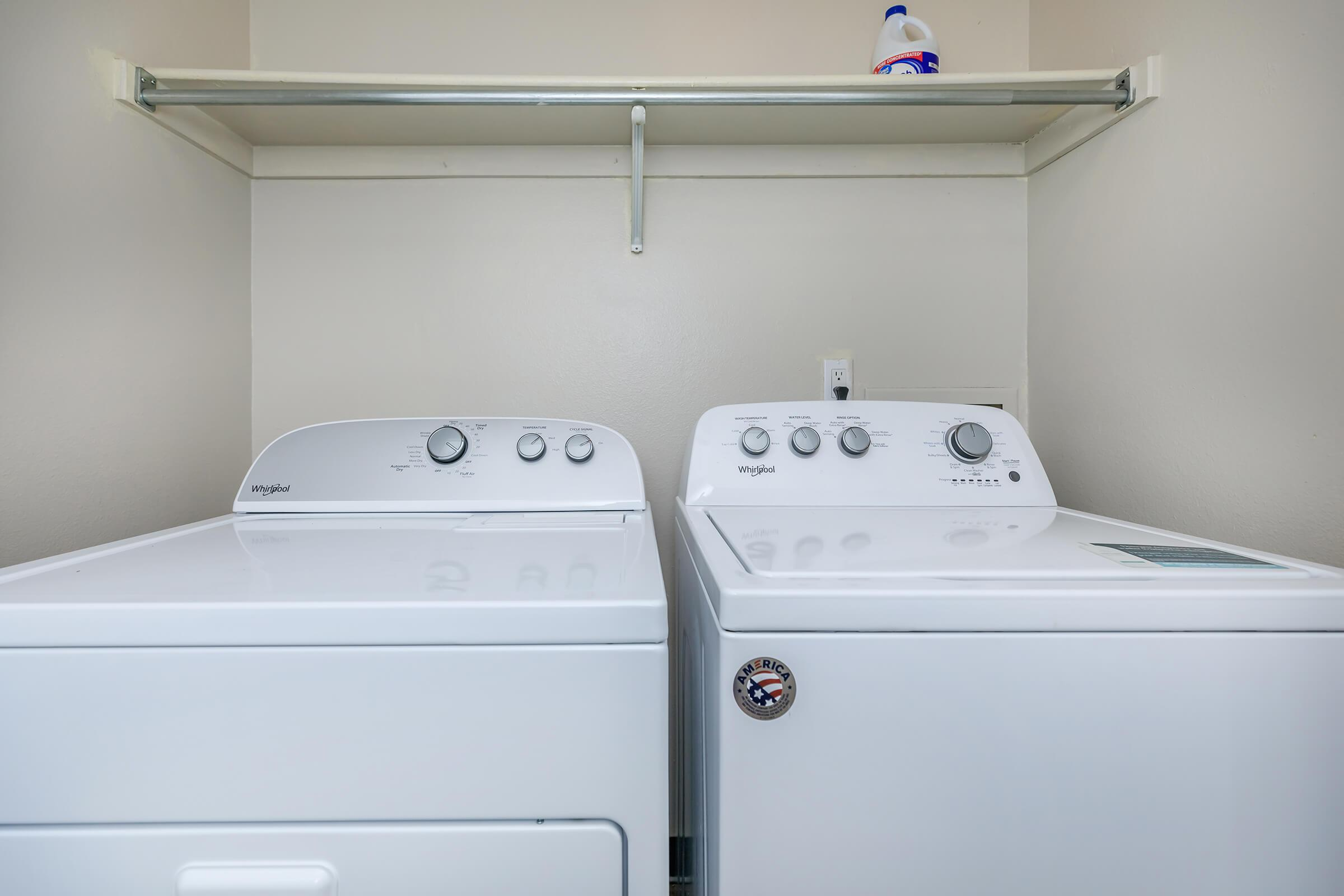 FULL-SIZE WASHER AND DRYER IN THE HOME