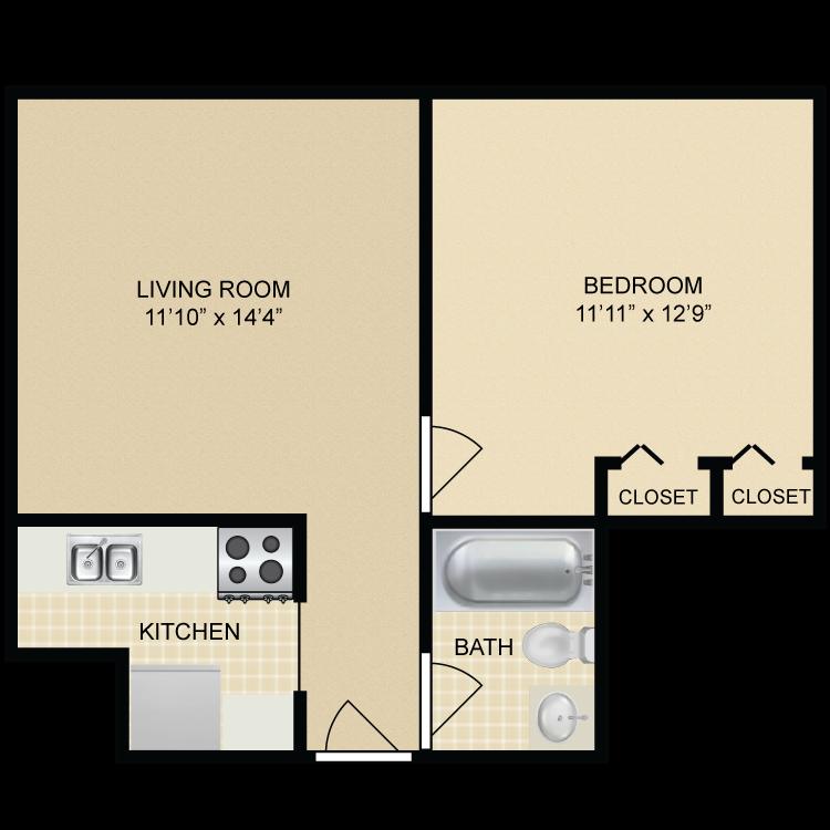 Floor plan image of Lincoln Floor Plan A