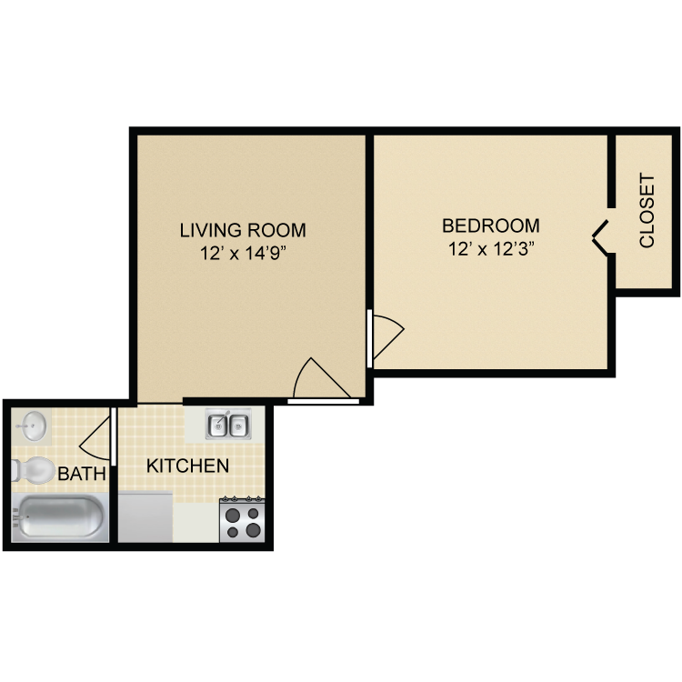 Floor plan image of Lincoln Floor Plan B