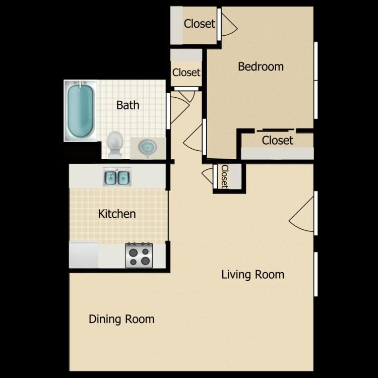 Floor plan image of 1X1 A2