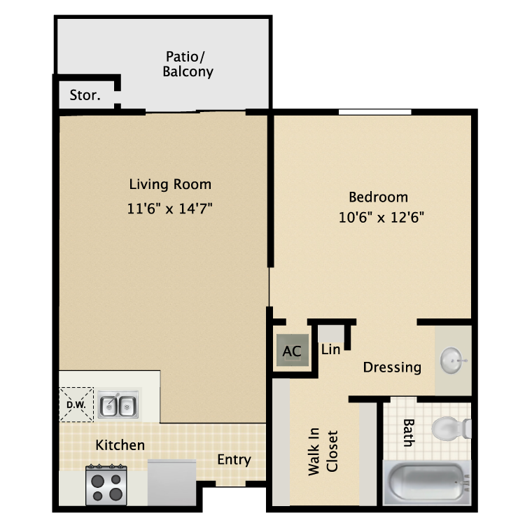 Floor plan image of Mahogany