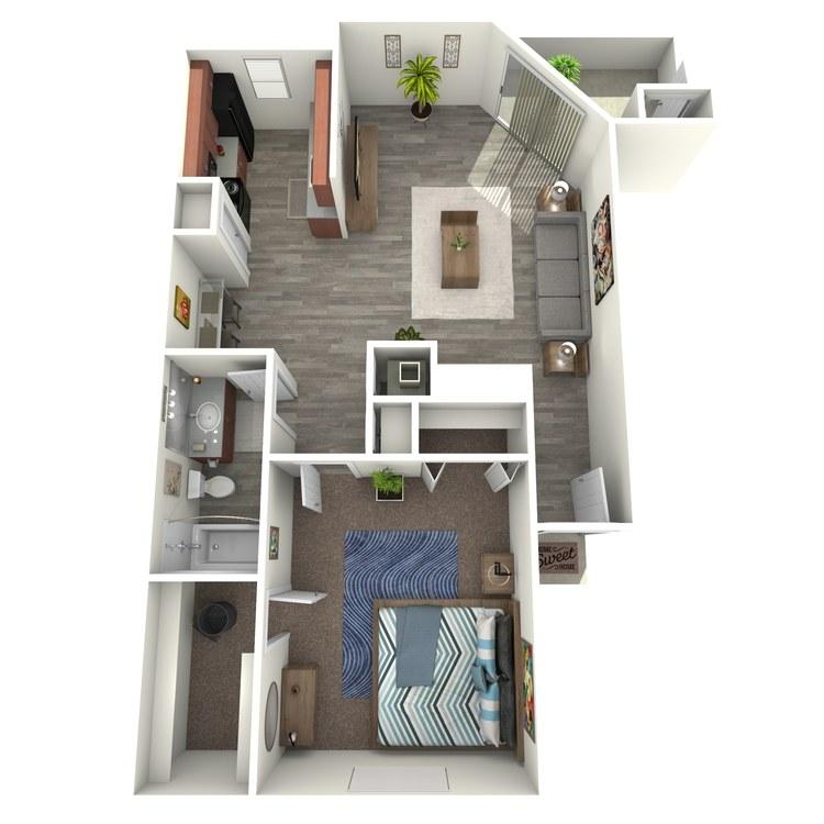 Floor plan image of Live Oak