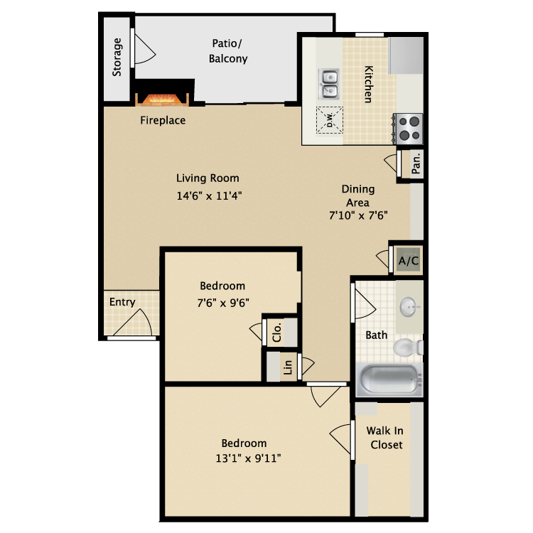 Floor plan image of Pecan