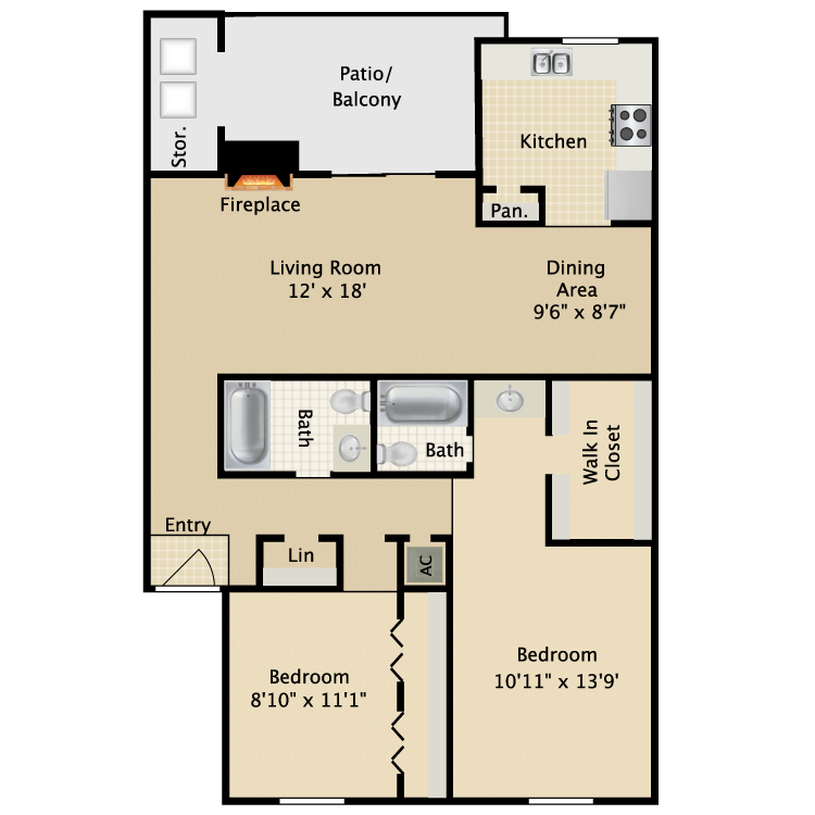 Rosewood floor plan image