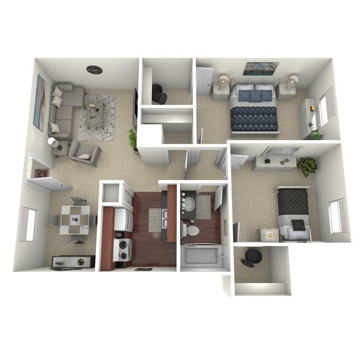 Floor plan image of 2 Bed 1 Bath C
