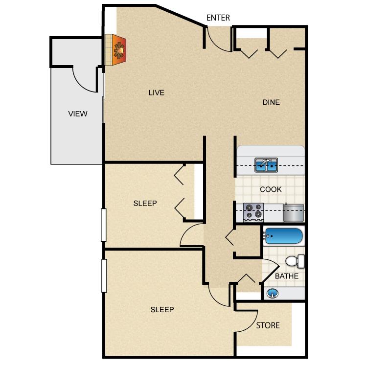 Floor plan image of The Caribbean