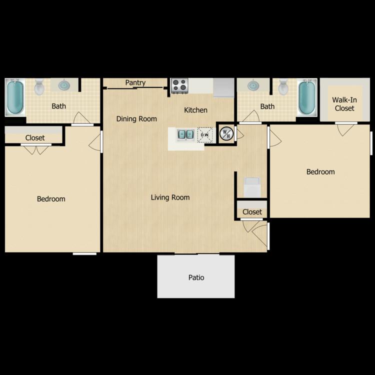 The Hibiscus floor plan image