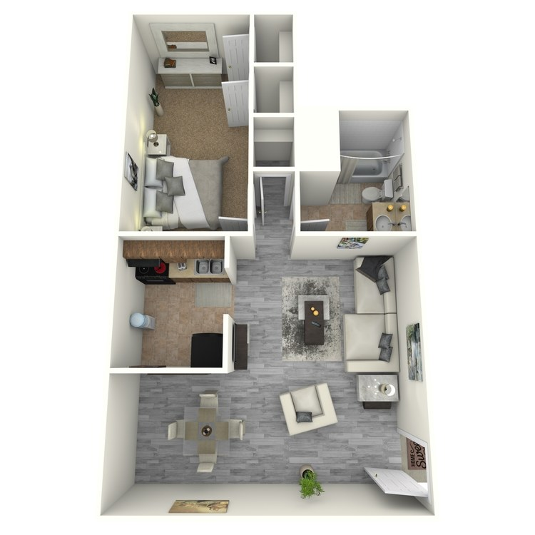 Floor plan image of 1 Bedroom