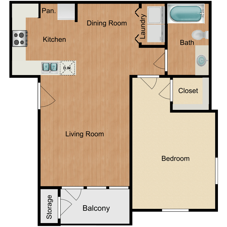 Floor plan image of Brazos