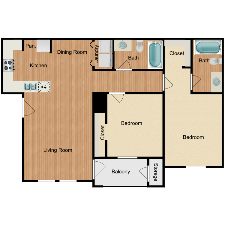 Floor plan image of Caldwell