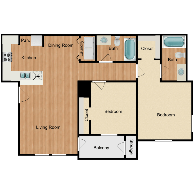 Floor plan image of Ellington