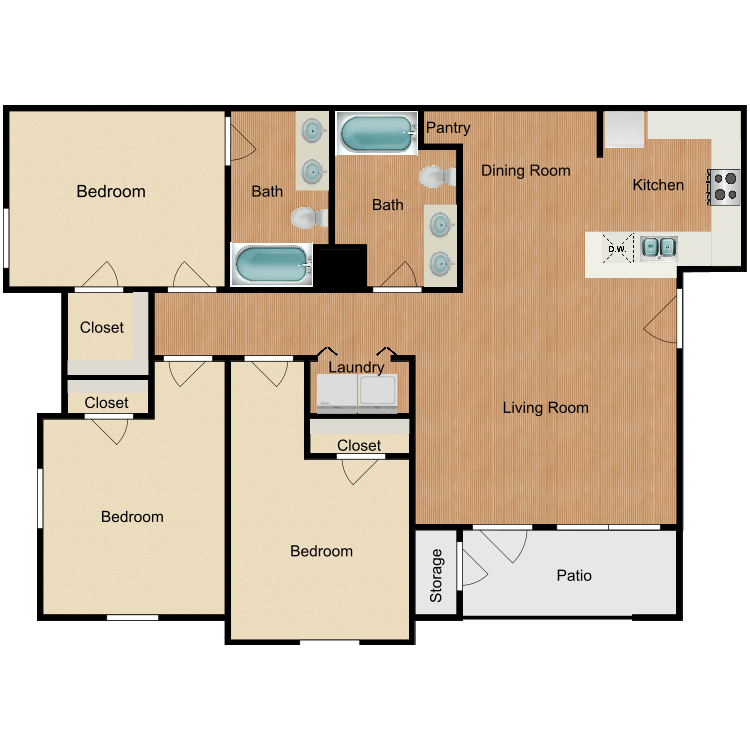 Floor plan image of Fresno