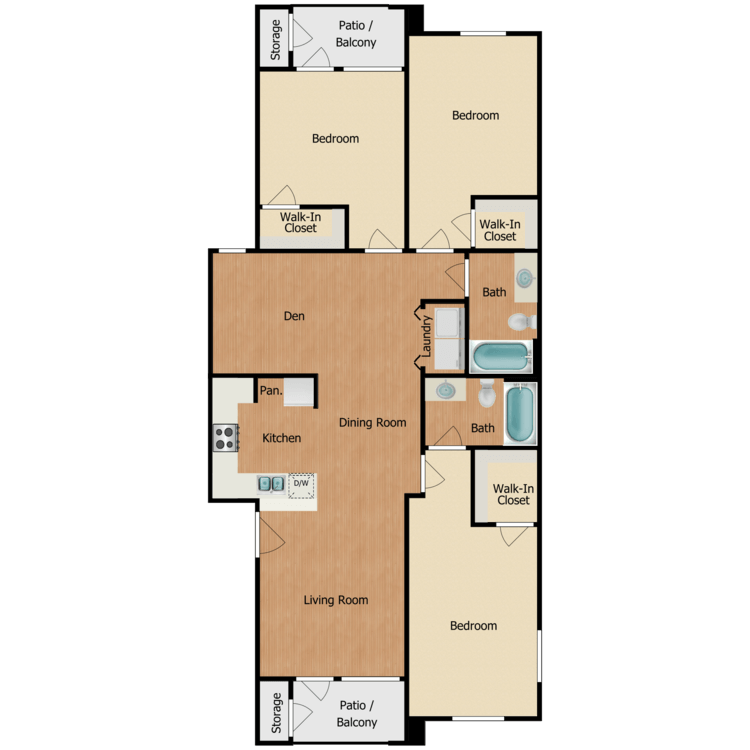 Floor plan image of Houston