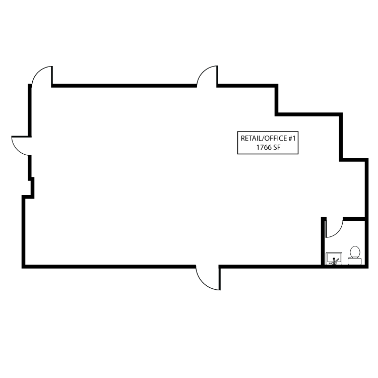 Floor plan image of Retail/Office, Suite 100