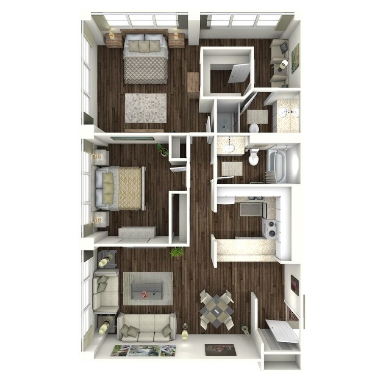 Floor plan image of 2A