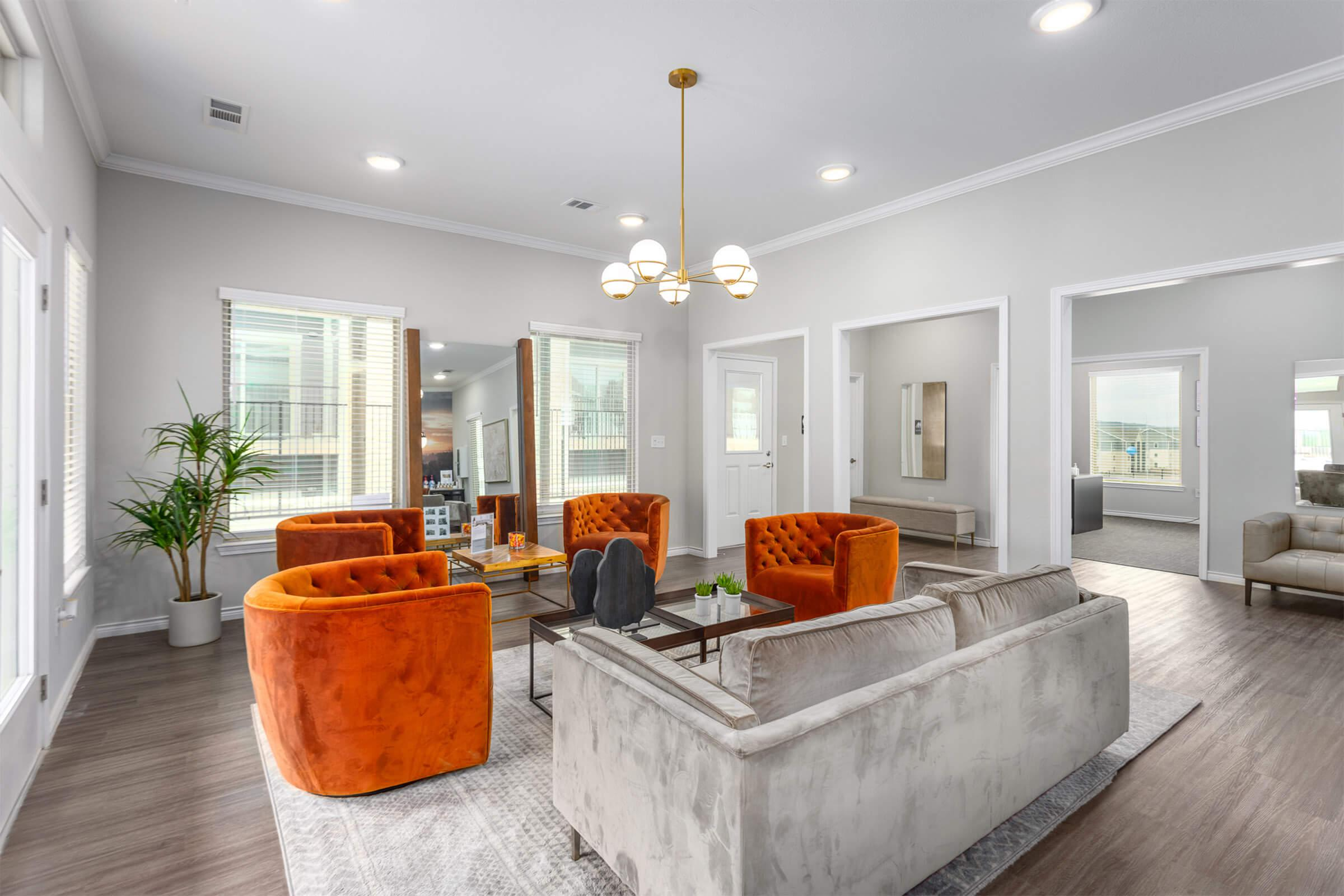 UNWIND IN THE CLUBHOUSE AT SENDERO RIDGE APARTMENTS