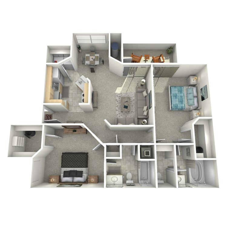 Floor plan image of 2x2