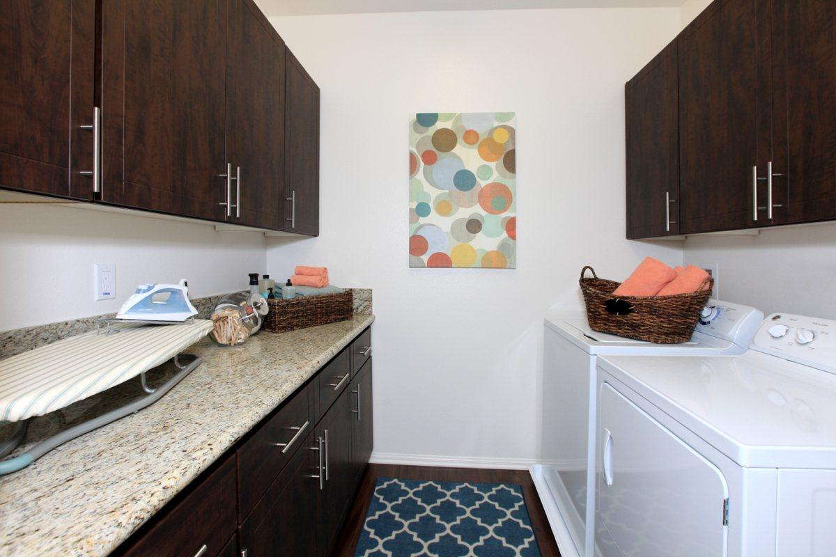 Oversized laundry rooms at The Vines at Riverpark