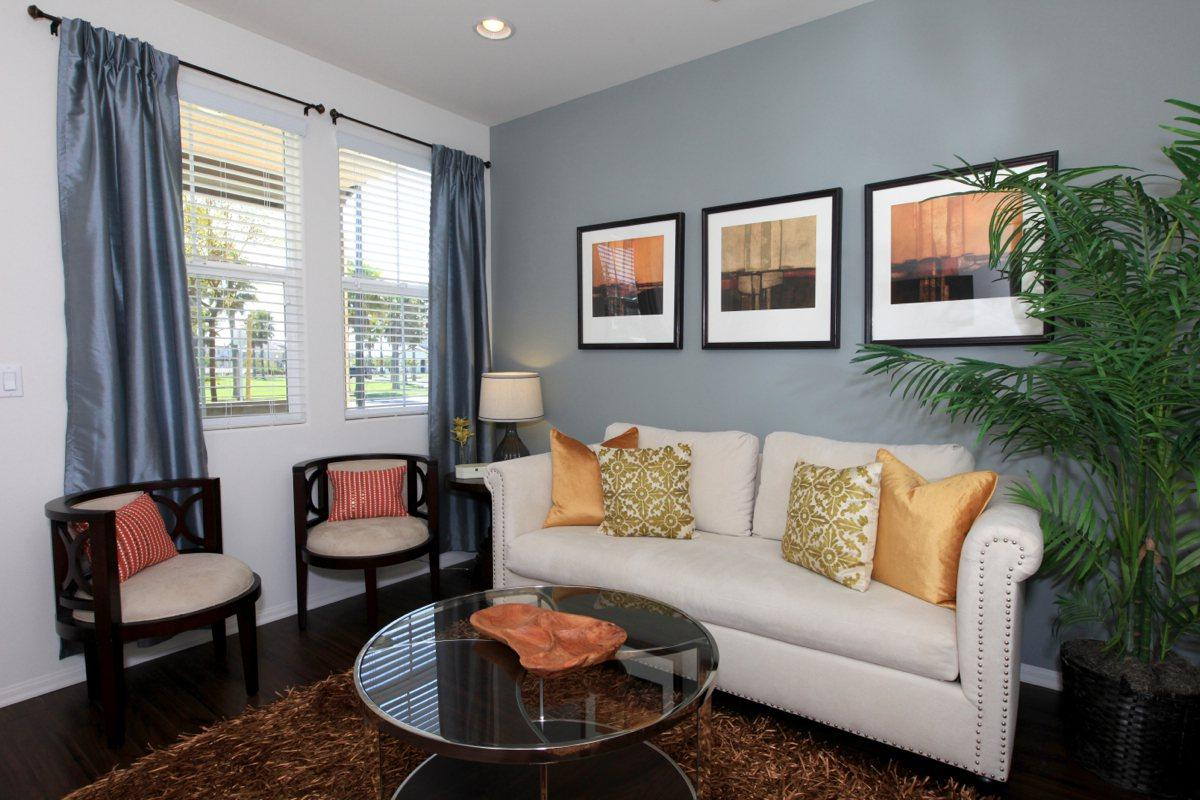 Spacious living areas at The Vines at Riverpark