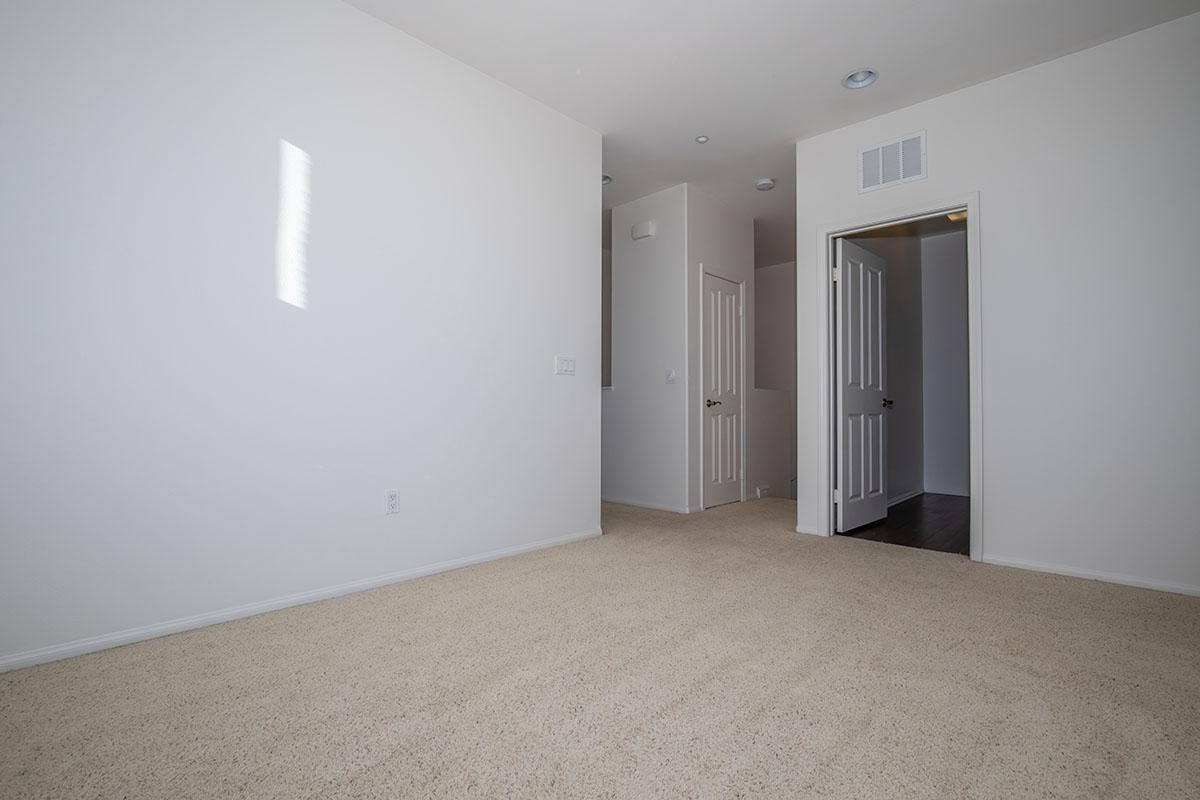 Plush carpeted floors