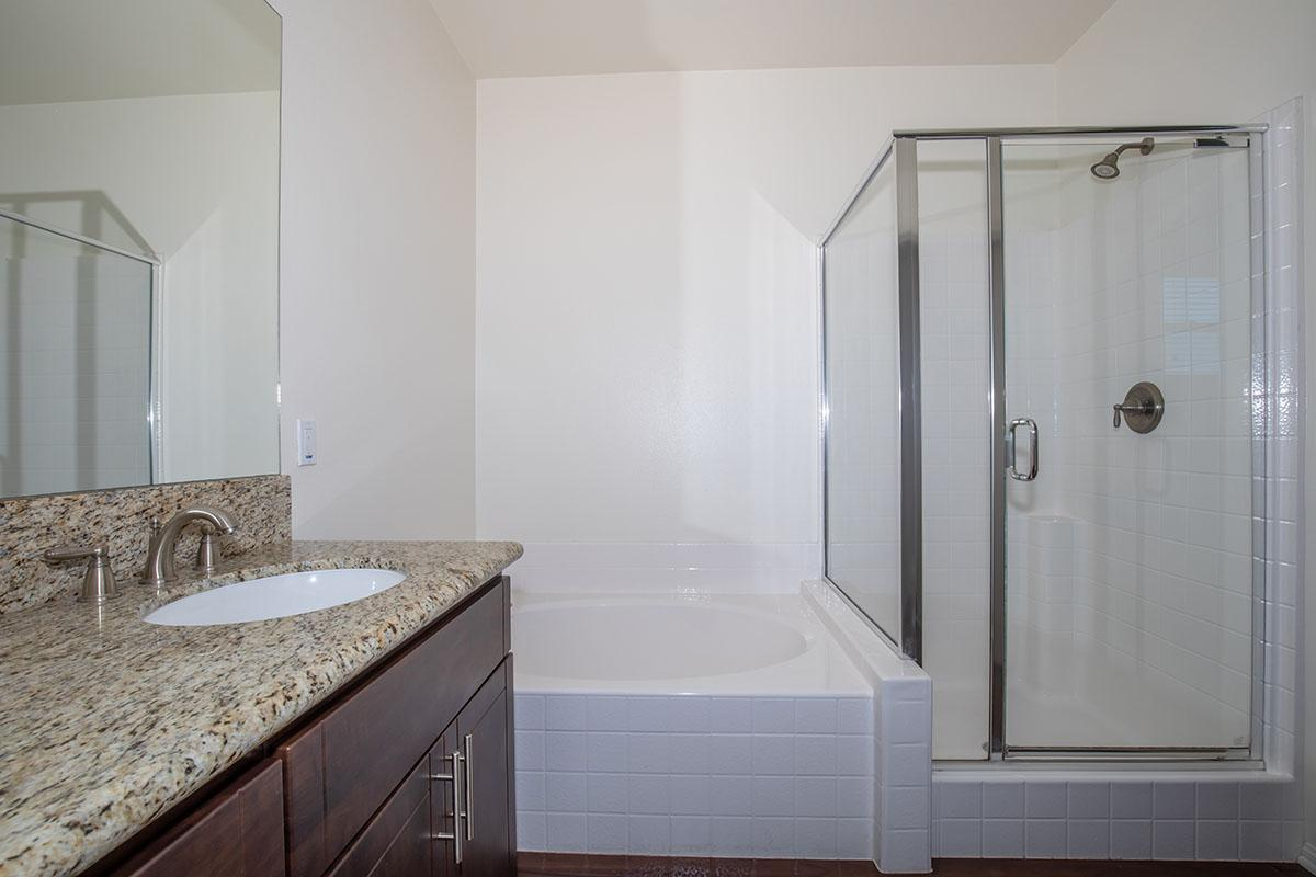 Stand alone shower and bathtub