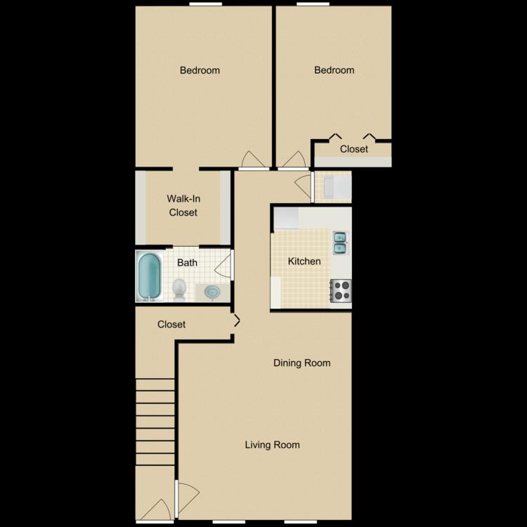 Floor plan image of Two Bedroom