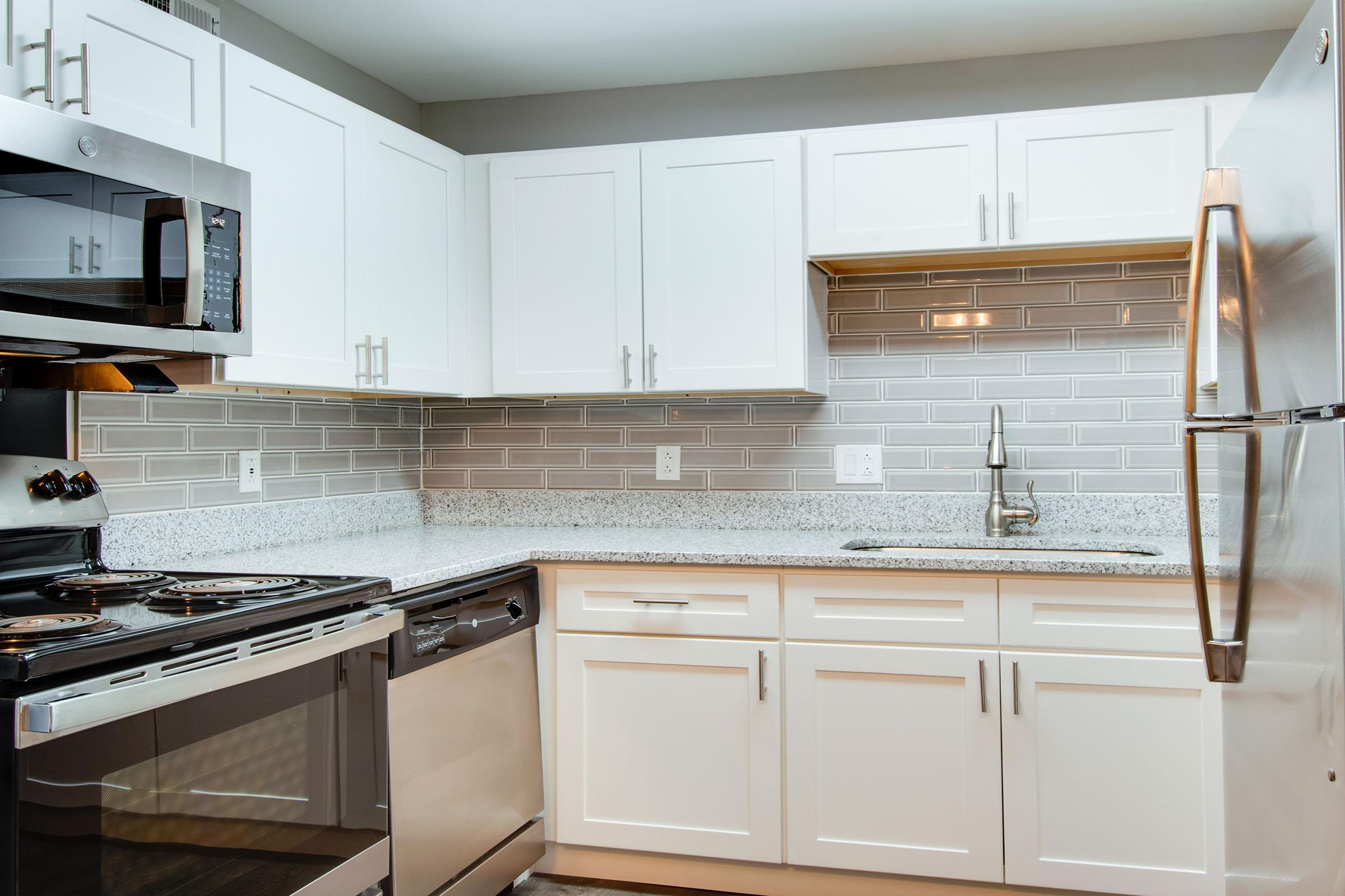 Updated kitchen with white cabinets