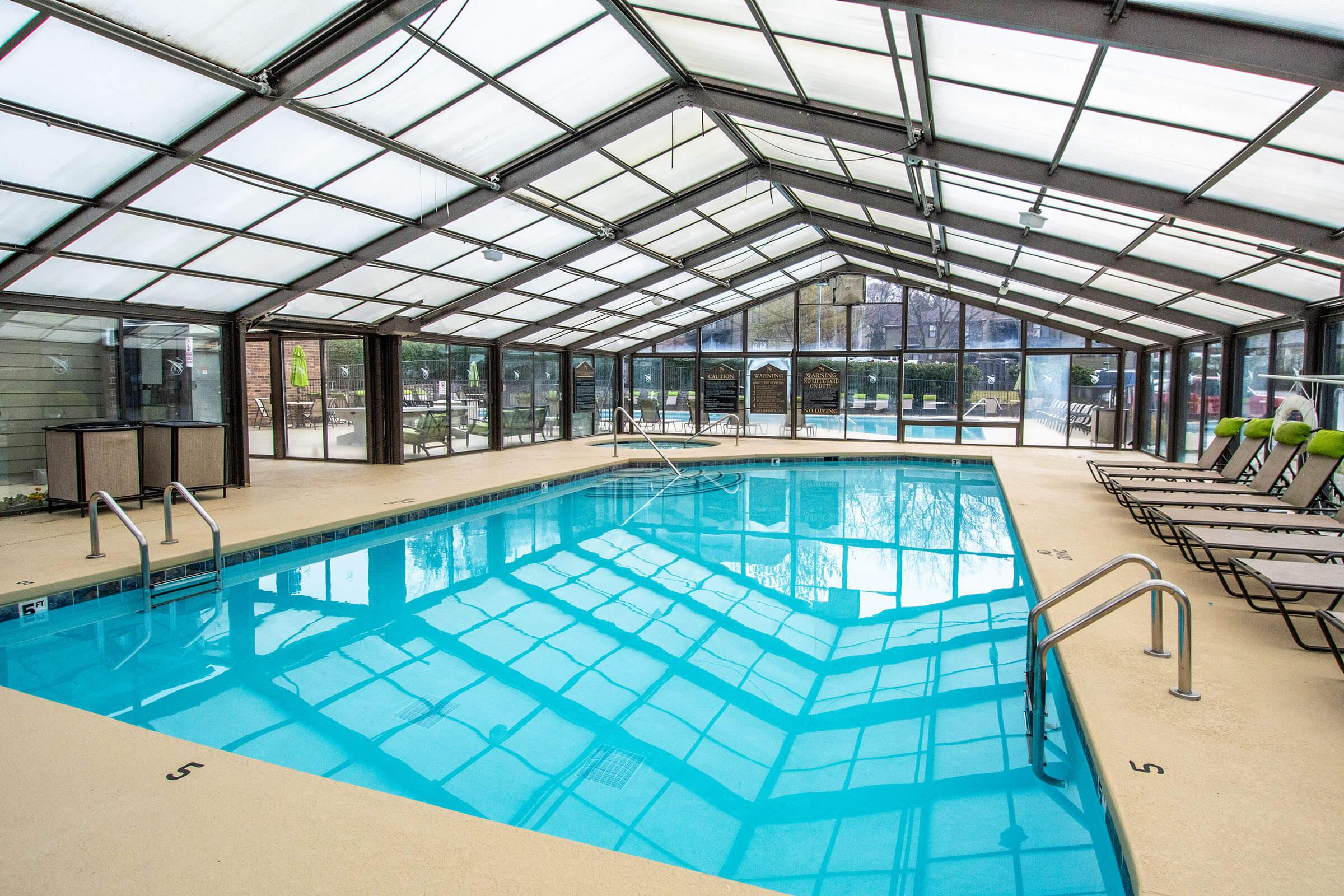 Indoor swimming pool at Brighton Valley