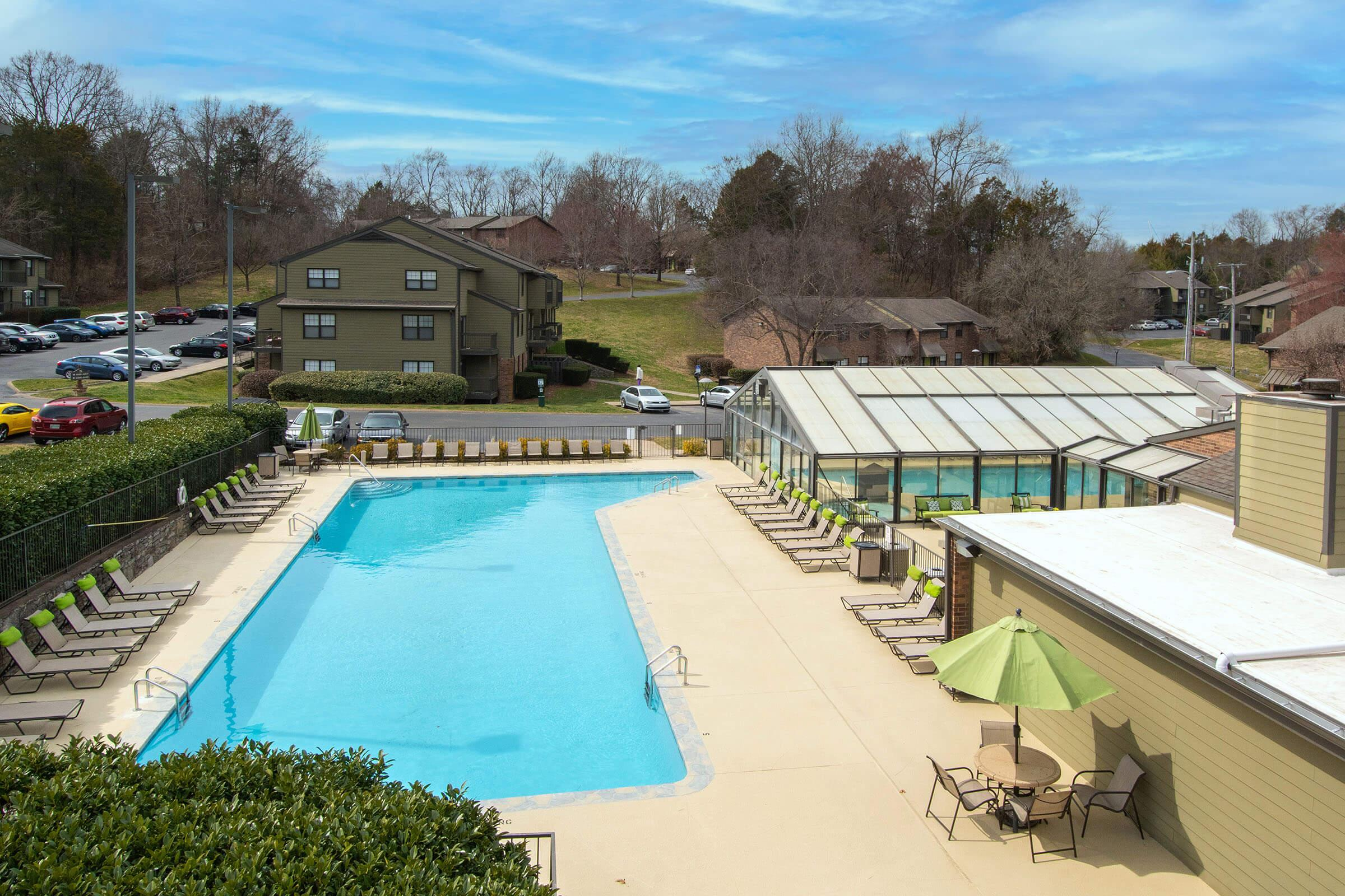 Outdoor pool view at Brighton Valley