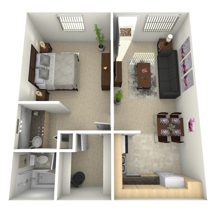 Floor plan image of One Bedroom