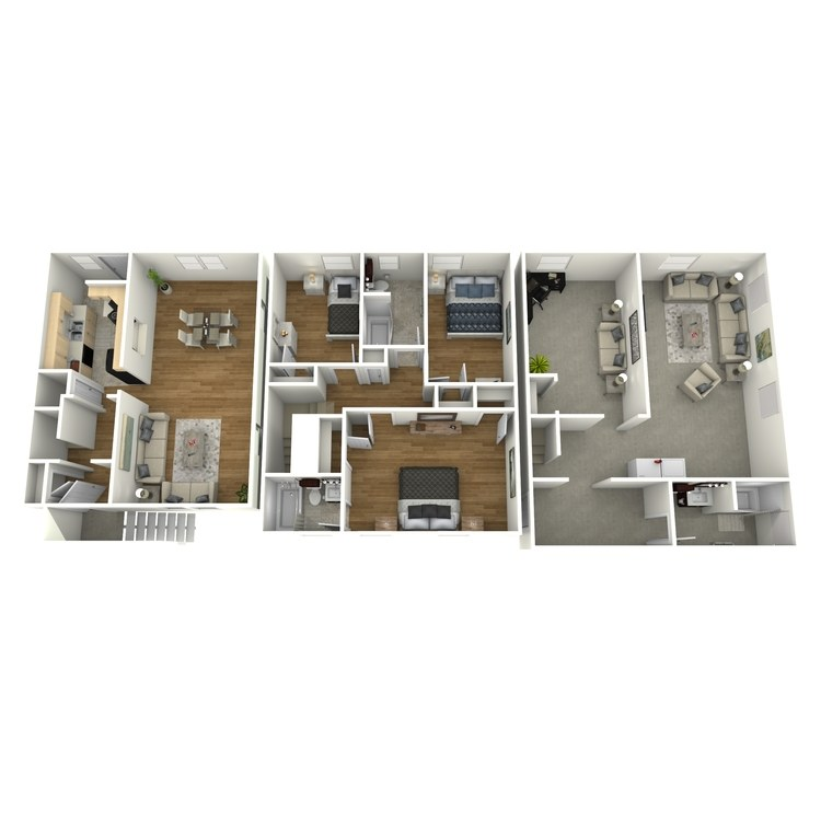 Floor plan image of 3 Bed 3 Bath