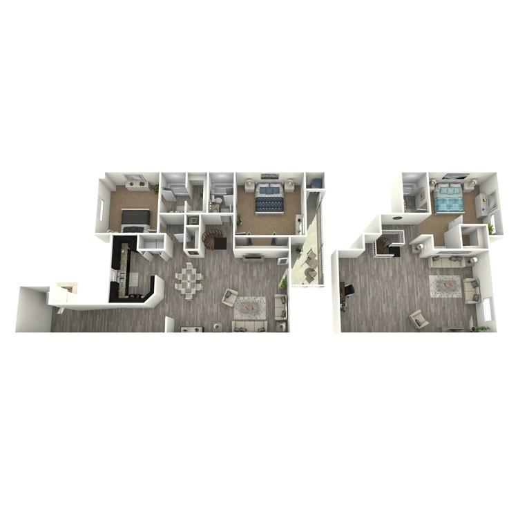 Floor plan image of Crabtree Loft Style