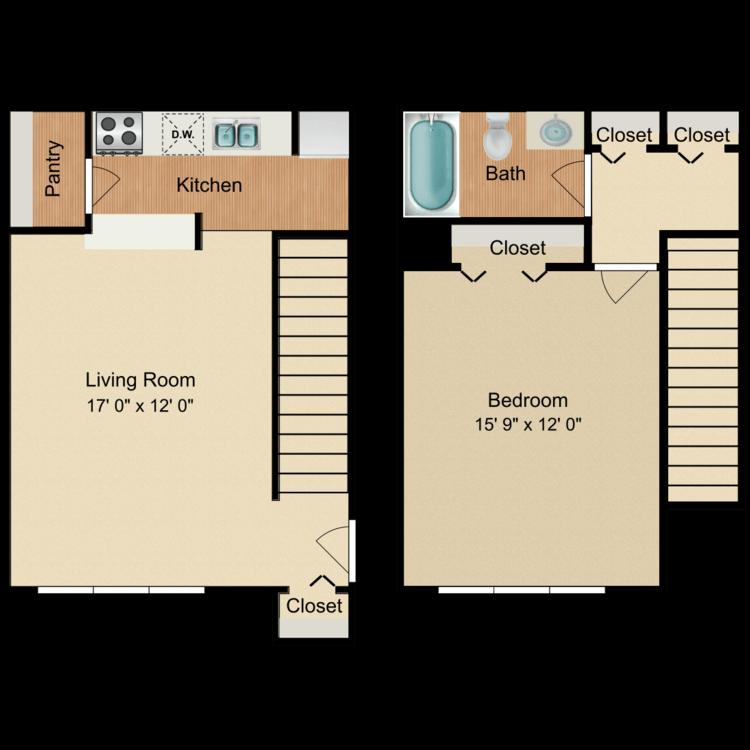 Floor plan image of Oak Grove Townhome