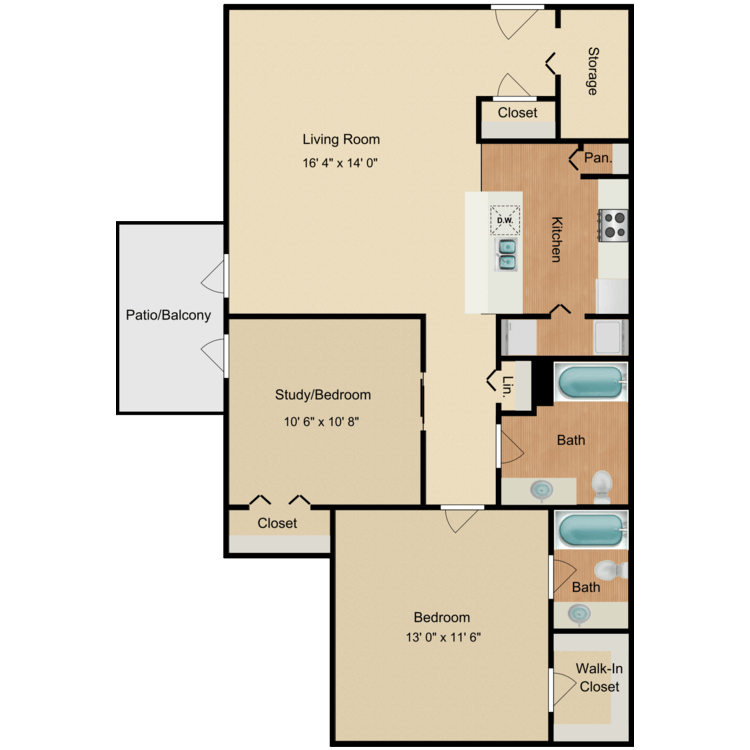 Floor plan image of Red Oak