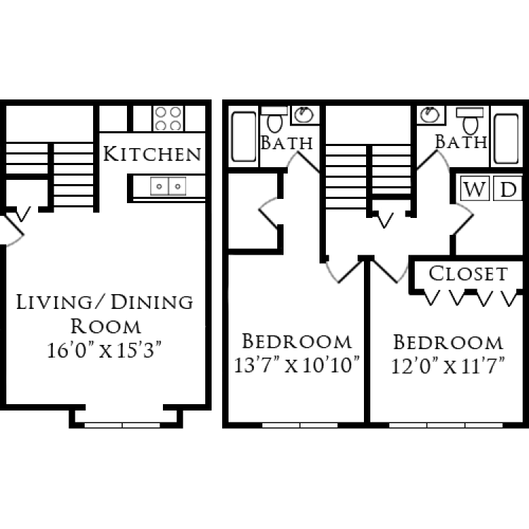 Floor plan image of Forest  Ridge Townhome
