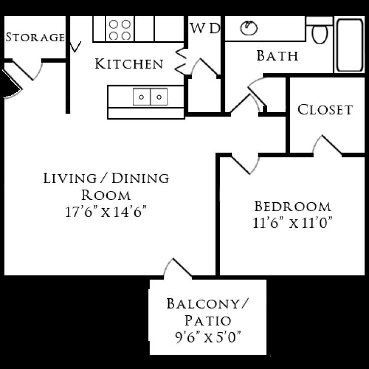 Floor plan image of Woodland