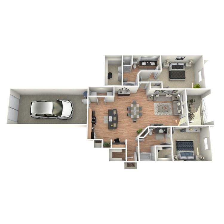 Floor plan image of K1