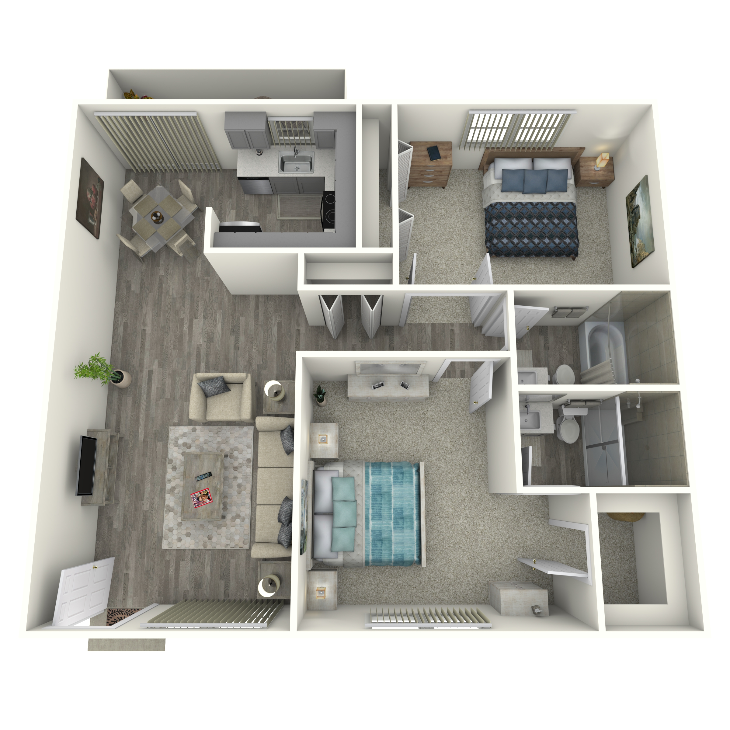 Floor plan image of 2x2 Small Renovated