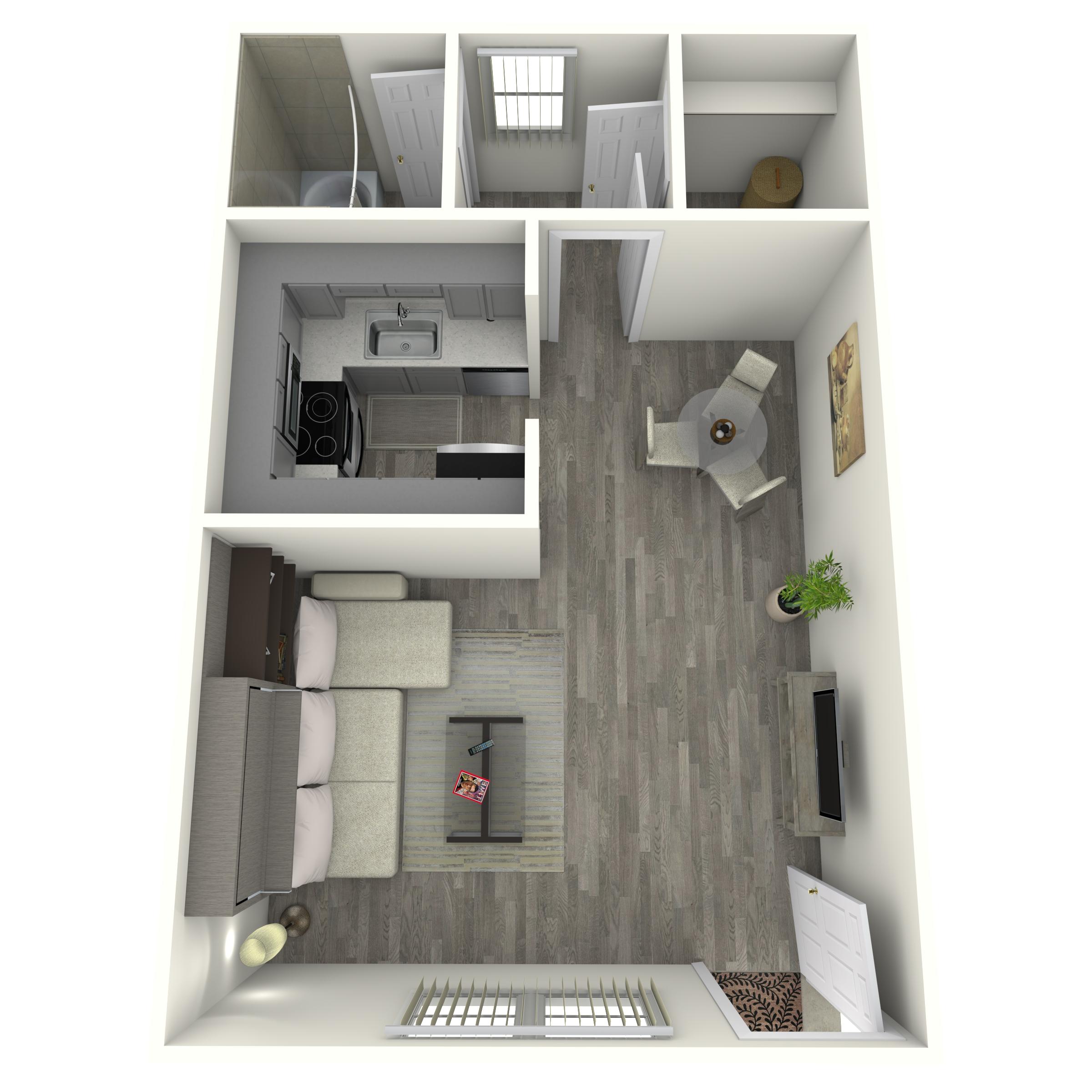 Floor plan image of Studio Renovated