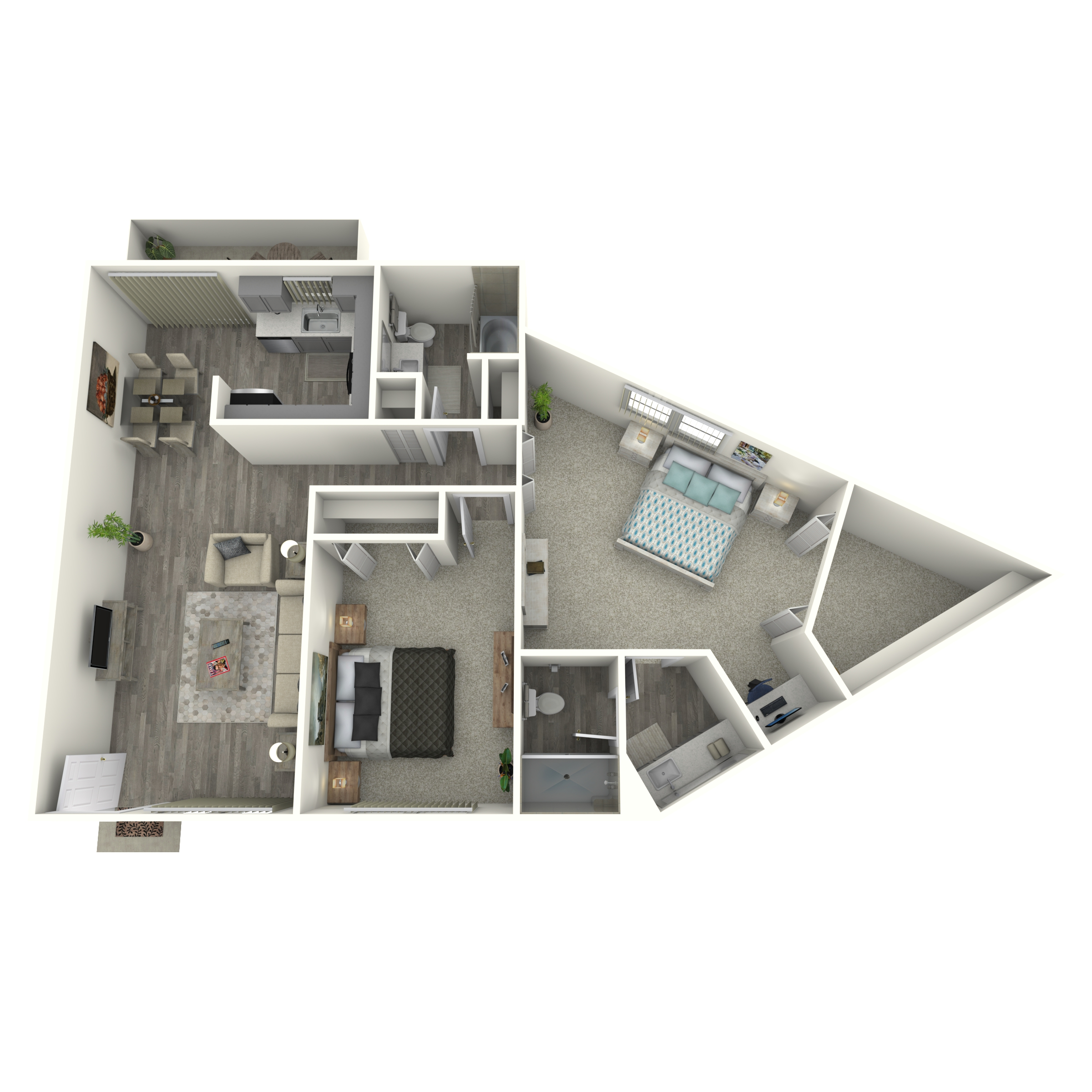 Floor plan image of 2x2 Large Renovated