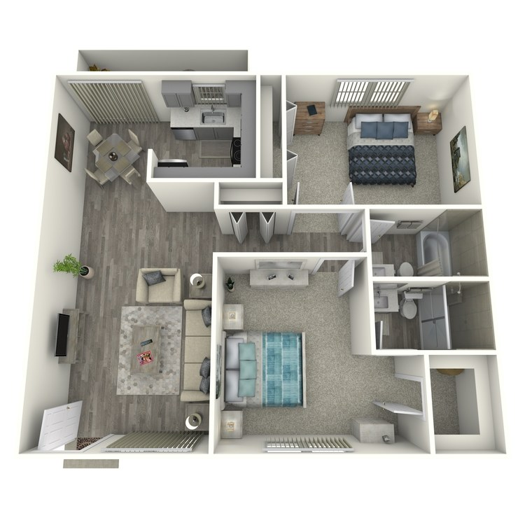 Floor plan image of 2x2D