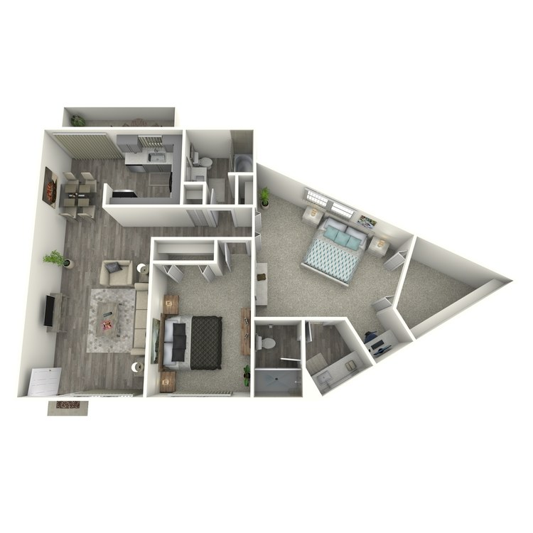 Floor plan image of 2x2 Large Classic